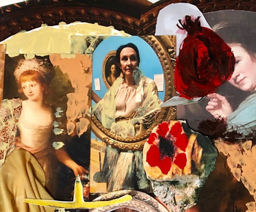 Artist Caro Halford discusses her new collages, highlighting overlooked female artists and her influences
